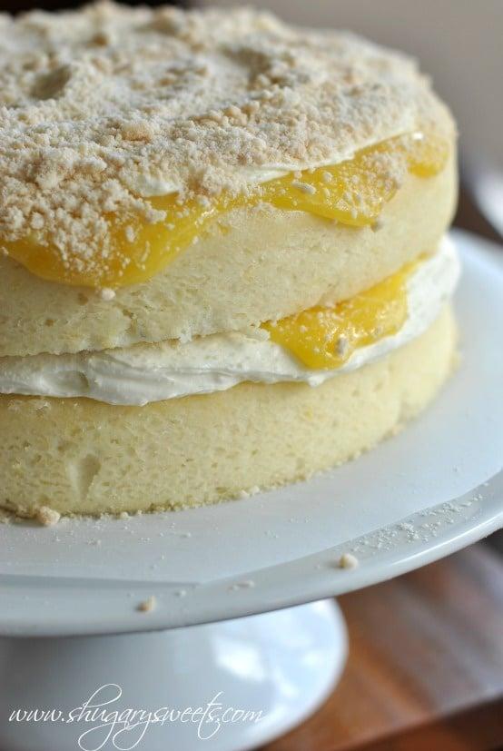 Lemon Cake with Creamy Filling and Lemon Curd - 15+ Luscious Lemon Recipes