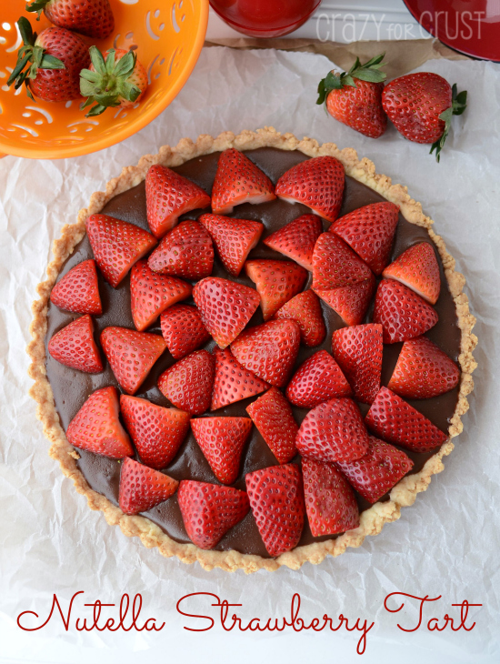 Nutella Strawberry Tart - 25 Sweet and Savory Strawberry Recipes