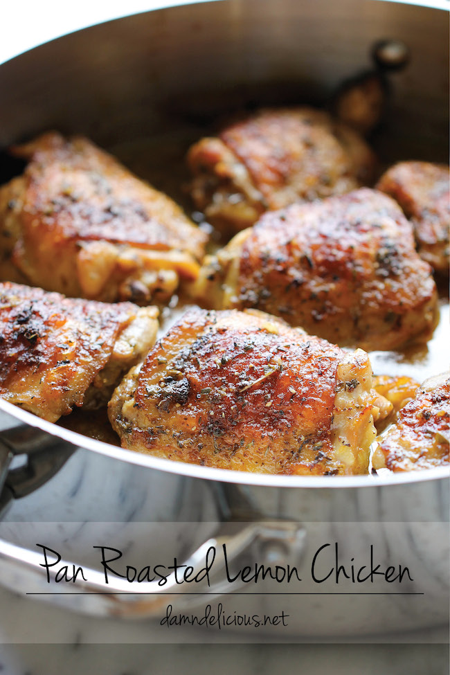 Pan Roasted Lemon Chicken - 15+ Luscious Lemon Recipes