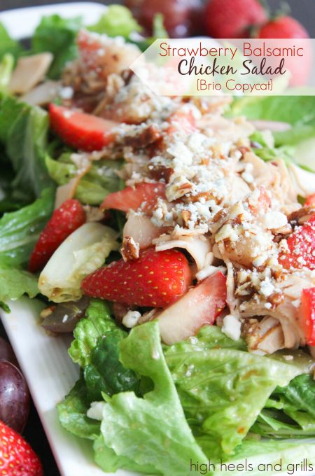 Strawberry Balsamic Chicken Salad - 25 Sweet & Savory Strawberry Recipes