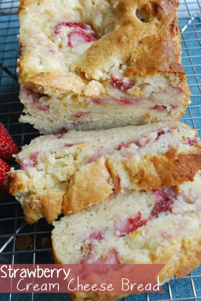 Strawberry Cream Cheese Bread - 25 Sweet and Savory Strawberry Recipes