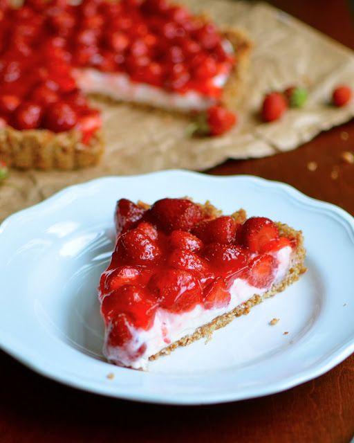 Strawberry Pretzel Tart - 25 Sweet and Savory Strawberry Recipes