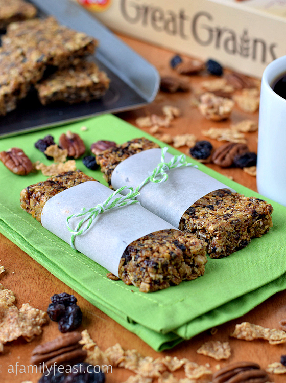 Great Grains Chewy Breakfast Bars - Easy homemade granola bars