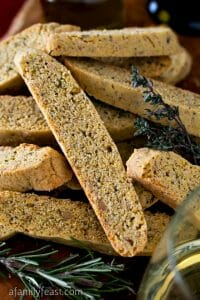 Olive Oil & Herb Savory Biscotti - A Family Feast