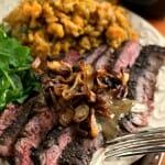Steak au Poivre with Crispy Shallots - A Family Feast