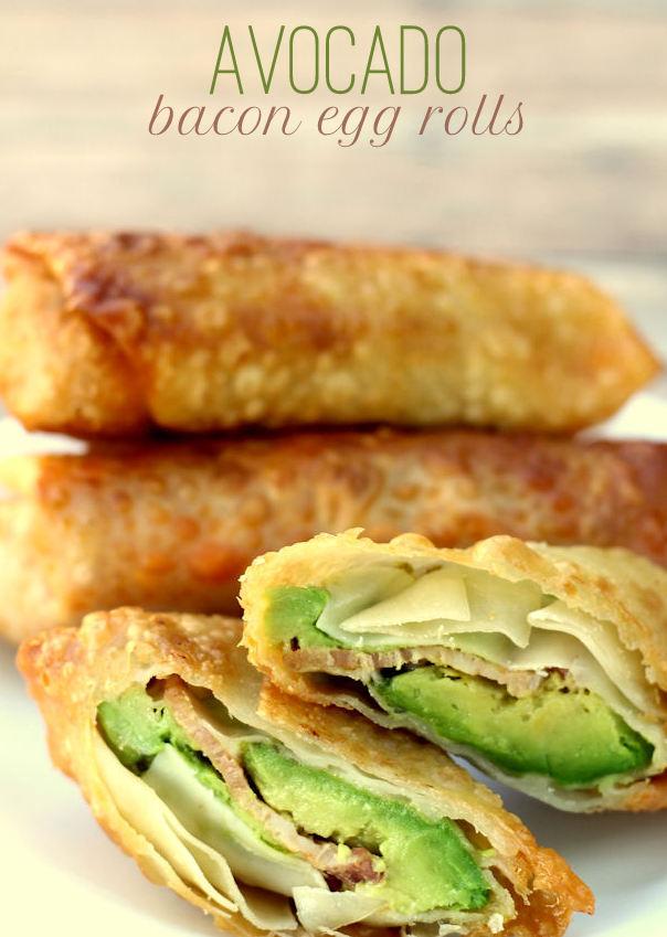 Avocado Bacon Egg Rolls – 20-plus Awesome Avocado Recipes