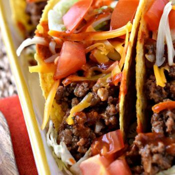 Ground Beef Tacos - A Family Feast