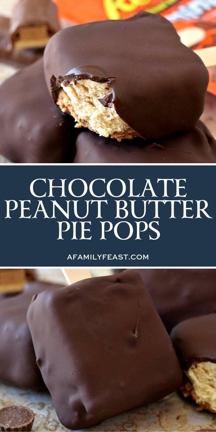 Chocolate Peanut Butter Pie Pops