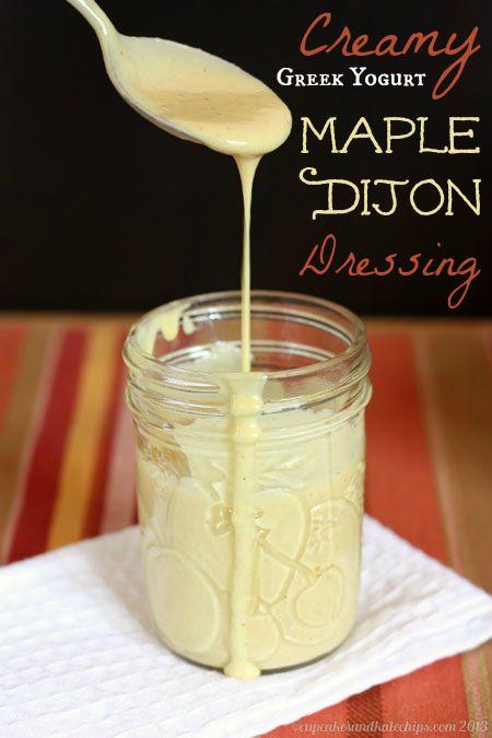 Creamy Green Yogurt Maple Dijon Dressing - 25-Plus Delicious Dijon Recipes