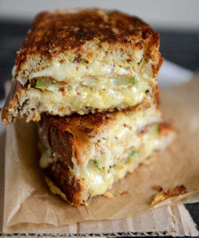 Crispy Zucchini Grilled Cheese with Dijon Horseradish Aioli - 25-Plus Delicious Dijon Recipes