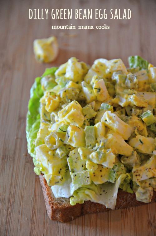 Dilly Green Bean Egg Salad - Egg Salad Sliders - Cheddar Bacon Egg Salad - Deviled Egg Salad Sandwiches - Jalapeno, Caper, and Avocado Egg Salad - 12 Eggs-cellent Egg Salad Recipes