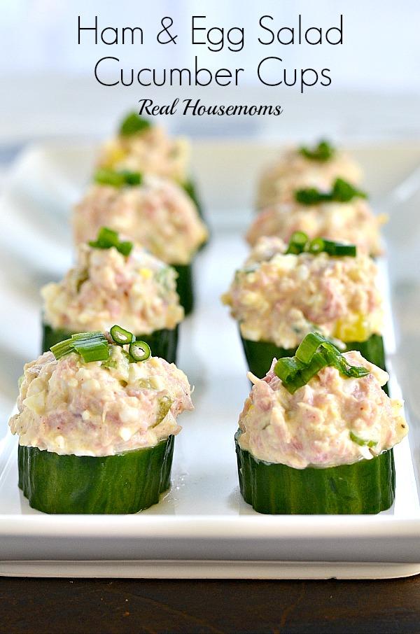Ham and Egg Salad Cucumber Cups - 12 Eggs-cellent Egg Salad Recipes