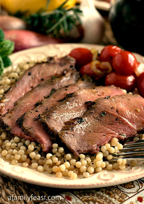 Roasted Lamb London Broil-Style - A Family Feast