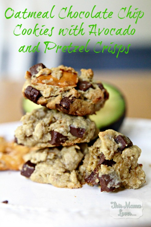 Oatmeal Chocolate Chip Cookies with Pretzels and Avocado – 20-plus Awesome Avocado Recipes