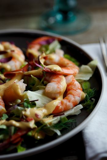 Prawn Cocktail Salad with Lemon, Garlic, and Dijon Mustard - 25-Plus Delicious Dijon Recipes