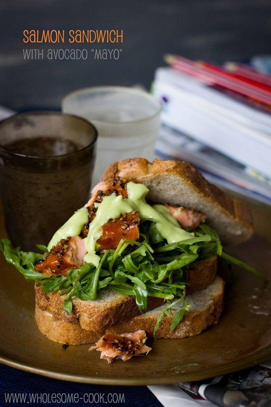 Salmon Salad Sandwich with Avocado Mayo – 20-plus Awesome Avocado Recipes
