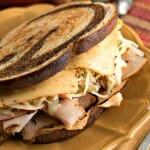 Southwestern Rachel Sandwich with Southwestern Slaw: Boar's Head Boldest Bracket Challenge