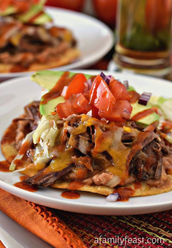 Beef Tostadas - A Family Feast