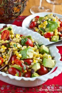 Avocado Corn Salad - A Family Feast
