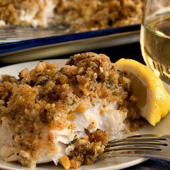 Cheesy Baked Stuffed Cod - A Family Feast