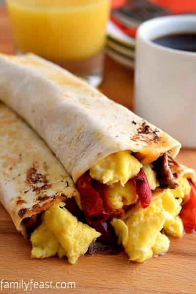 Breakfast Burritos - A Family Feast