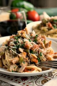 Linguini with Clam Sauce – Basque-Style - A Family Feast