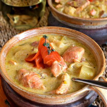 Salmon and Parsnip Chowder - A Family Feast