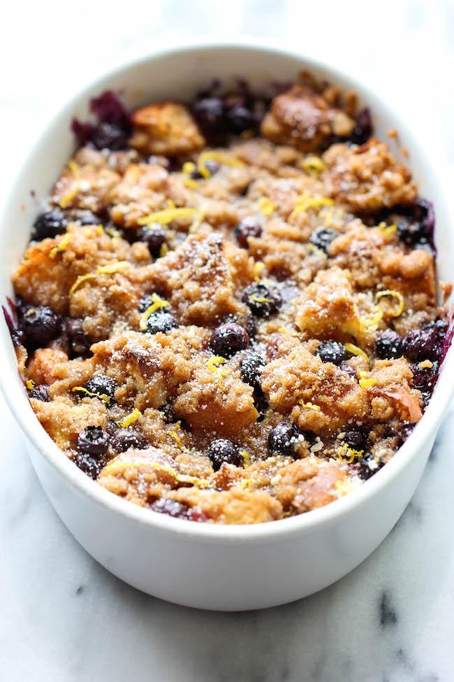 Baked Blueberry Lemon French Toast - 25+ Best Blueberry Recipes