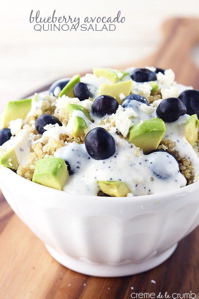 Blueberry Avocado Quinoa Salad - 25+ Best Blueberry Recipes