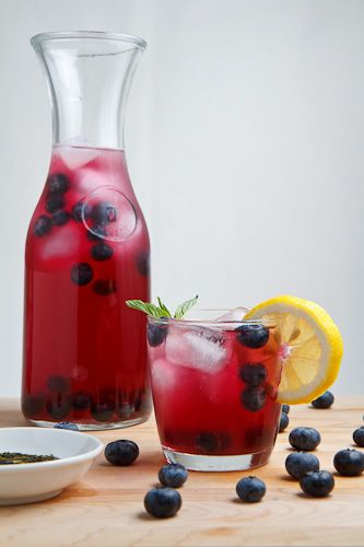 Blueberry Iced Green Tea - 25+ Best Blueberry Recipes