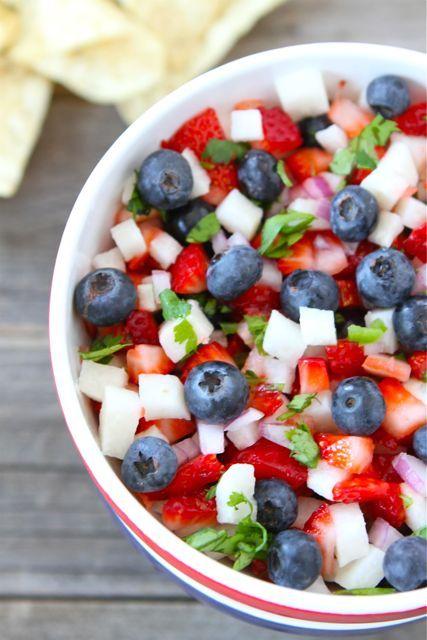 Blueberry, Strawberry and Jicama Salad - 25+ Best Blueberry Recipes