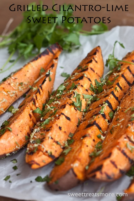 Grilled Cilantro Lime Sweet Potatoes – Sweet Treats and More
