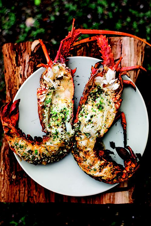 Grilled Lobster with Garlic Parsley Butter - 30-Plus Great Grilling Recipes