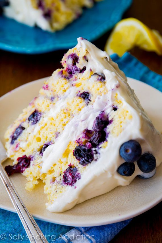 Lemon Blueberry Layer Cake - 25+ Best Blueberry Recipes