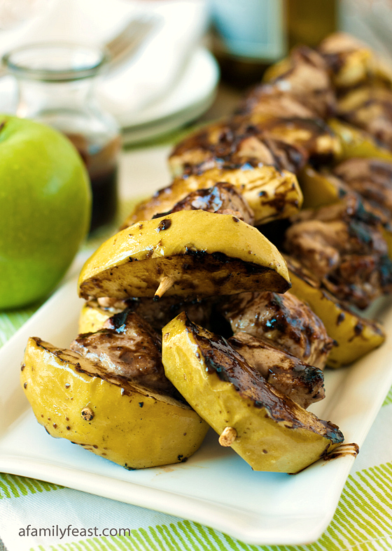 Pork Apple Skewers - A Family Feast