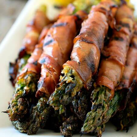 Parmesan-Coated Asparagus Wrapped In Prosciutto - A Family Feast
