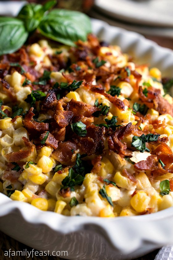 Corn and Bacon Casserole - A Family Feast
