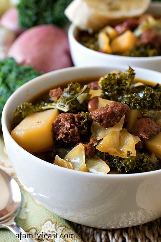 Portuguese Kale Soup - A Family Feast