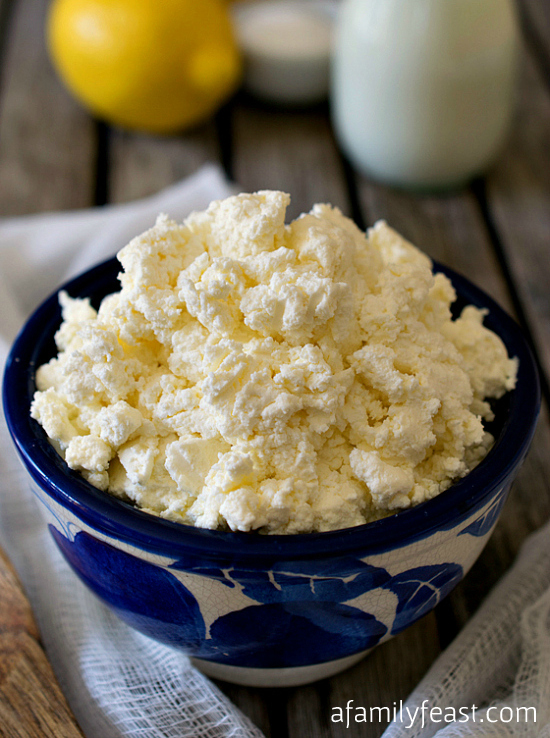 Sunday Cooking Lesson: Homemade Ricotta Cheese - A Family Feast