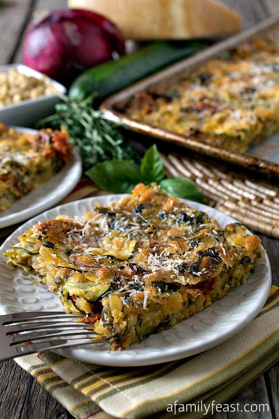 Scarpaccia Zucchini Tart