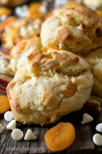 White Chocolate Apricot Scones - A Family Feast