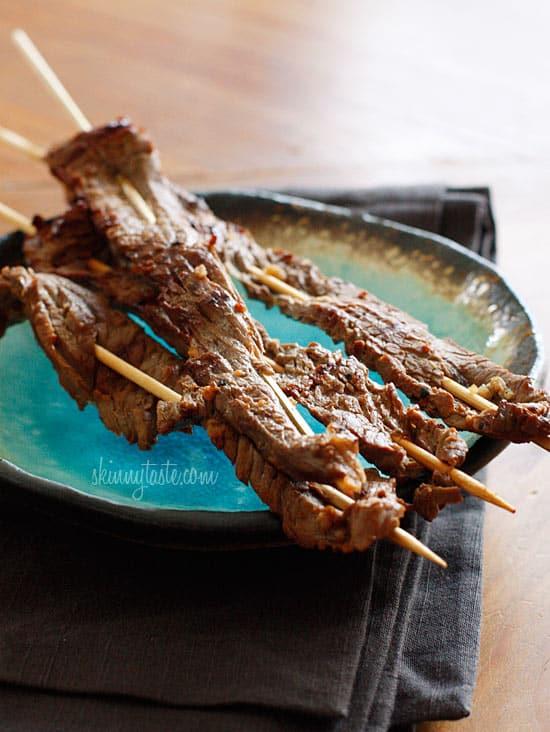 Asian Flank Steak Skewers - 20+ Sizzling Steak Recipes