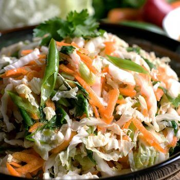 Easy Asian Slaw - A Family Feast