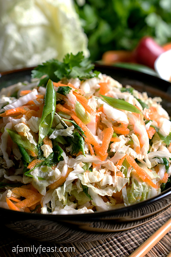 Easy Asian Slaw - A Family Feast