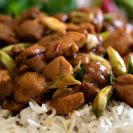 Gooey Ginger Chicken - A Family Feast