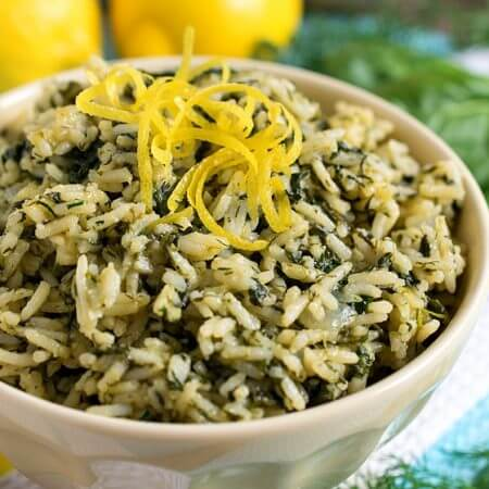 Greek Rice (Spanakorizo) - A Family Feast