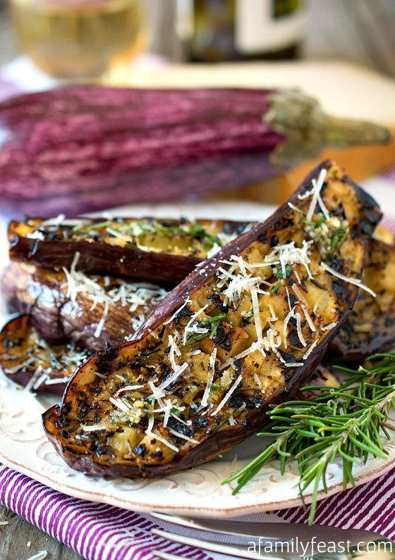 Grilled Graffiti Eggplant recipe - Delicious and tender with fantastic flavor!