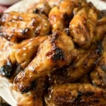 Honey Mustard Soy Glazed Chicken Wings