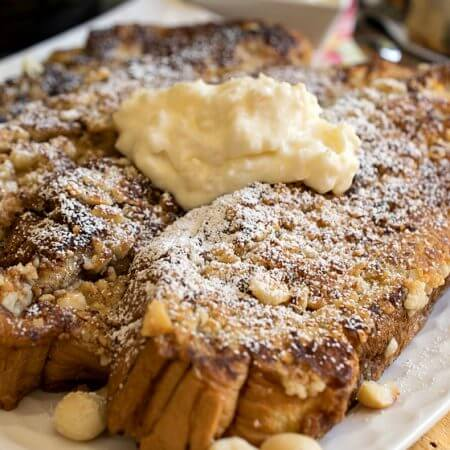 Hawaiian French Toast with Pineapple and Mascarpone - A Family Feast
