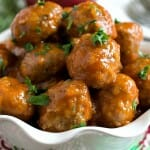 Turkey Cocktail Meatballs with Apple Mustard Glaze - A Family Feast